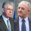 Mario Monti e Vincenzo De Luca